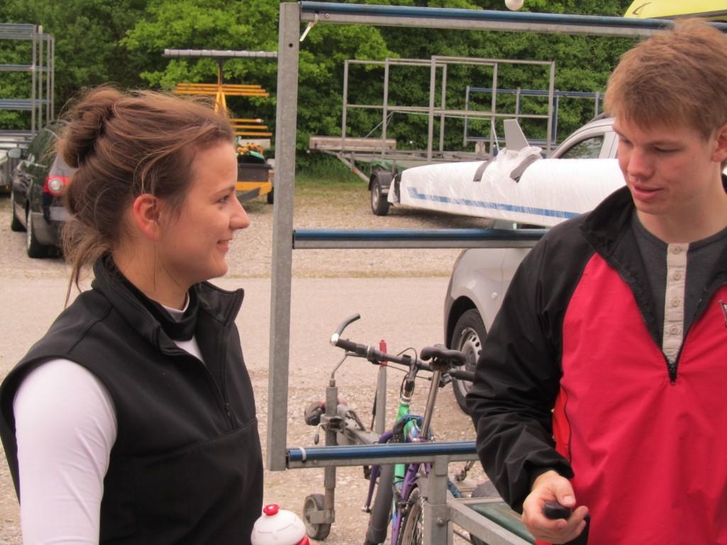 Alicia mit Trainer Tim Lauer