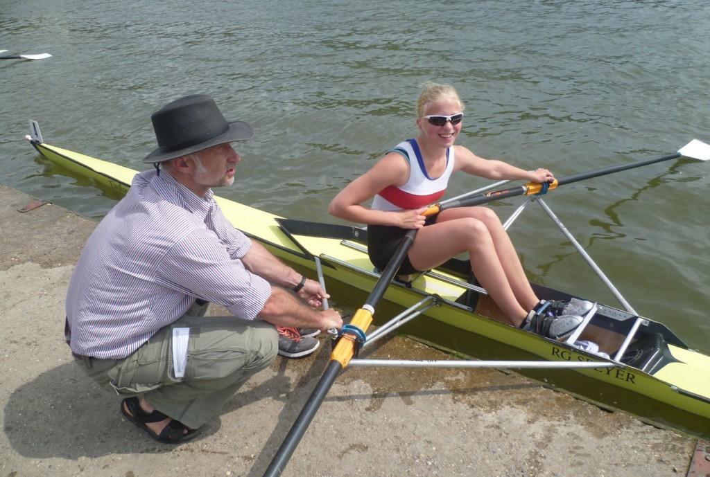 Trainer Martin Gärtner mit Ernestine Archinger