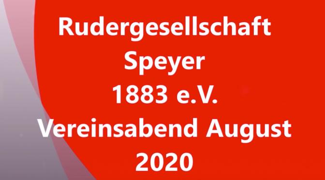Virtueller Vereinsabend August 2020