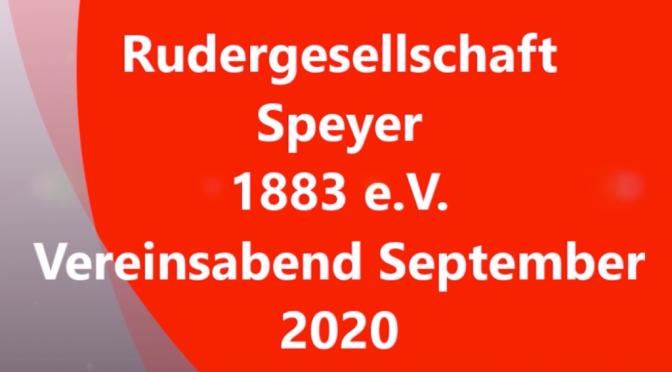 Virtueller Vereinsabend September 2020