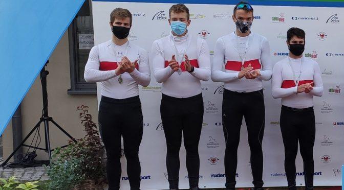 Silber für Junioren-Doppelvierer bei den Deutschen Sprintmeisterschaften